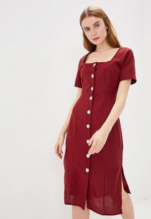 Платье Mango - MOON. Цвет: бордовый