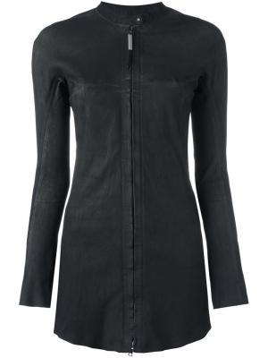 Эластичная кожаная куртка Isaac Sellam Experience. Цвет: чёрный