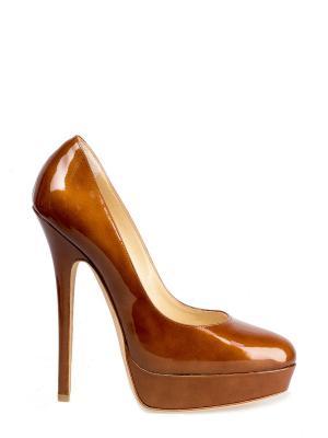 Туфли JIMMY CHOO. Цвет: коричневый