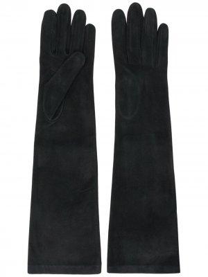 Длинные перчатки Alberta Ferretti. Цвет: черный