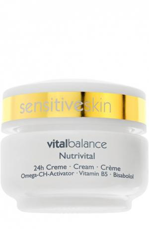 Питательный крем 24-часового действия для нормальной кожи Nutrivital 24 h Cream Declare. Цвет: бесцветный