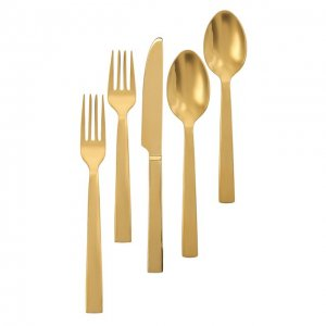 Набор из пяти столовых приборов Ralph Lauren. Цвет: золотой