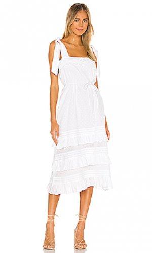 Платье миди zane Cleobella. Цвет: белый
