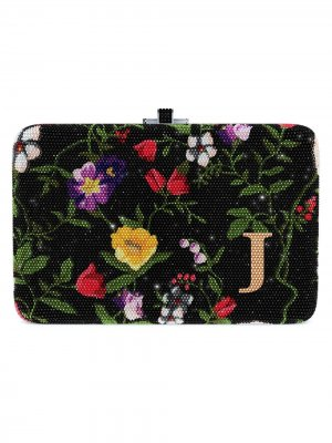 Сумка Morning Glory Slim Slide Customizable Monogram Judith Leiber. Цвет: золотистый