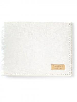 Складной бумажник Salvatore Ferragamo. Цвет: белый