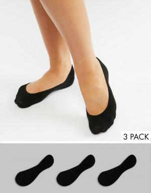 3 пары черных носков -Черный Monki