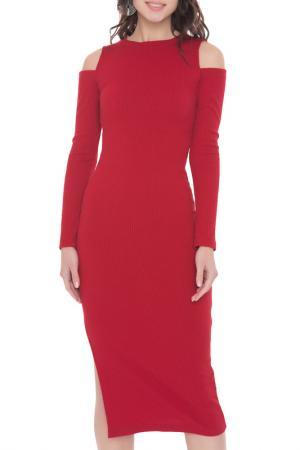 Платье-миди Touch FREESPIRIT. Цвет: красный