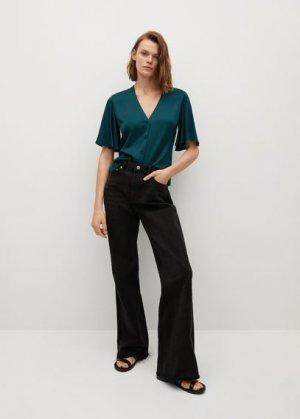 Струящаяся атласная блузка - Cecil Mango. Цвет: зеленый