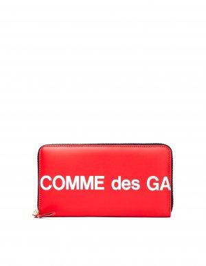 Красный кожаный кошелек на молнии Comme des Garcons Wallets