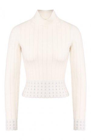 Пуловер Alaia. Цвет: белый
