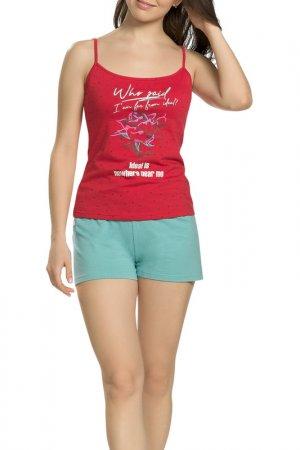Комплект - майка, шорты Pelican. Цвет: красный(18)