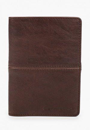 Обложка для паспорта Gianni Conti. Цвет: коричневый
