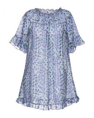 Короткое платье BINI Como. Цвет: синий