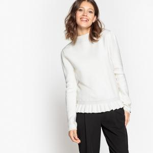 Пуловер с воланами LA REDOUTE COLLECTIONS. Цвет: экрю