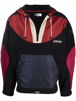 Куртка в стиле колор-блок с капюшоном Isabel Marant. Цвет: черный