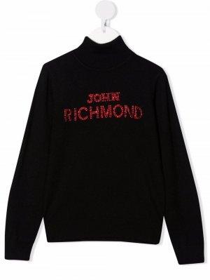 Джемпер с логотипом John Richmond Junior. Цвет: черный