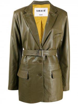 Куртка с поясом S.W.O.R.D 6.6.44. Цвет: зеленый
