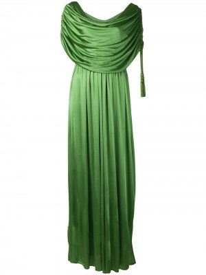 Длинное платье с драпировкой LANVIN. Цвет: зеленый
