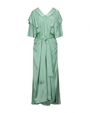 Длинное платье VIVIENNE WESTWOOD ANGLOMANIA. Цвет: светло-зеленый