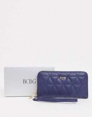 Стеганый бумажник в подарочной упаковке -Синий BCBGeneration
