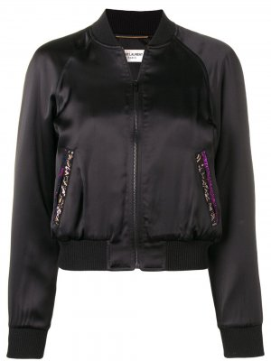 Куртка-бомбер на молнии Saint Laurent. Цвет: черный