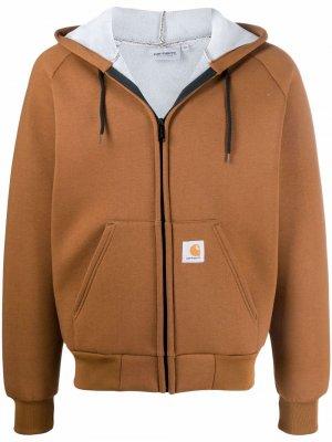 Куртка на молнии с капюшоном Carhartt WIP. Цвет: коричневый