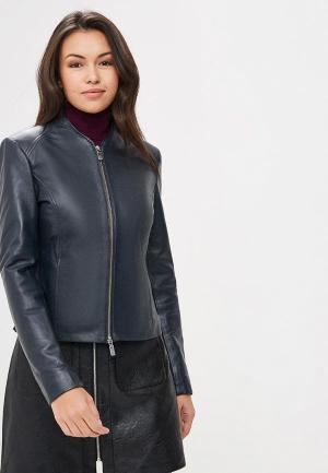 Куртка кожаная Arma Stevie. Цвет: синий