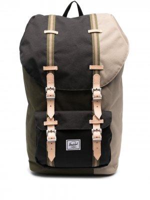 Рюкзак в стиле колор-блок Herschel Supply Co.. Цвет: зеленый