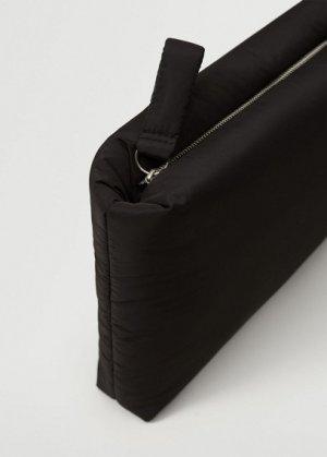 Стеганый чехол для ноутбука - Soft Mango. Цвет: черный