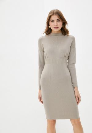 Платье Bigtora. Цвет: бежевый
