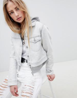 Укороченная джинсовая куртка Dr Denim. Цвет: белый
