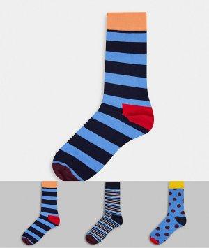 Подарочный набор из 3 пар носков HS By -Многоцветный Happy Socks