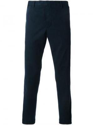 Классические плотные брюки Polo Ralph Lauren. Цвет: синий
