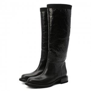 Кожаные сапоги Premiata. Цвет: чёрный