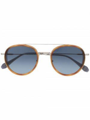 Солнцезащитные очки Firenze в круглой оправе GIGI STUDIOS. Цвет: серебристый