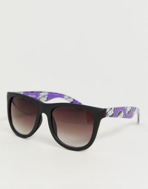 Черные солнцезащитные очки Santa Cruz. Цвет: черный
