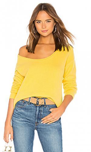 Пуловер sotto Lovers + Friends. Цвет: желтый
