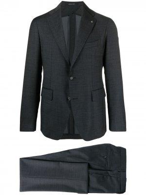 Костюм с однобортным пиджаком Tagliatore. Цвет: синий