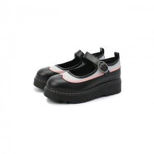 Кожаные туфли Emporio Armani. Цвет: чёрный