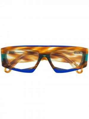 Солнцезащитные очки Yauco Jacquemus. Цвет: синий