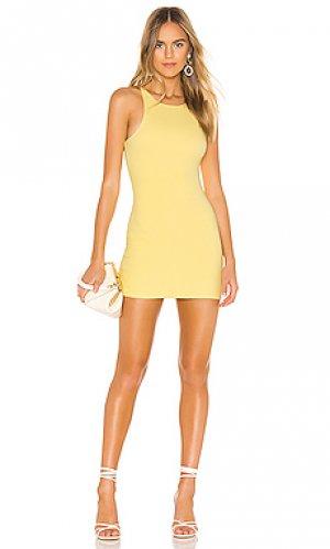 Мини платье neilson Privacy Please. Цвет: желтый