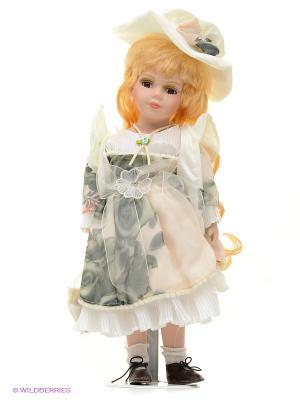 Кукла фарфор Эвелина 16 дюймов Angel Collection. Цвет: розовый, белый
