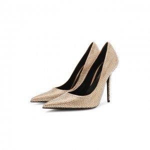 Текстильные туфли Versace. Цвет: белый