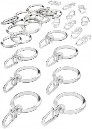 Крючки и кольца (30 шт.) bonprix. Цвет: бесцветный