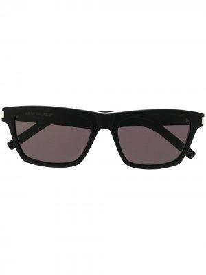 Солнцезащитные очки в квадратной оправе Saint Laurent Eyewear. Цвет: черный