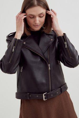 Куртка-косуха Черешня. Цвет: темно-коричневый