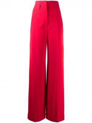 Строгие брюки широкого кроя Alberta Ferretti. Цвет: красный