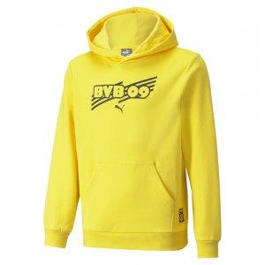 Детская толстовка BVB FtblCore Youth Football Hoodie PUMA. Цвет: желтый