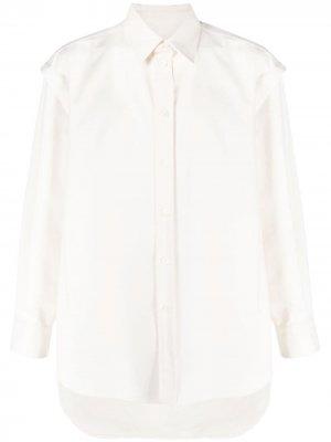 Многослойная рубашка с длинными рукавами Valentino. Цвет: нейтральные цвета