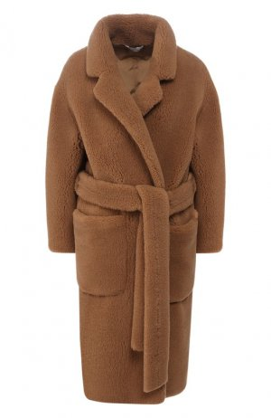 Шерстяное пальто Colombo. Цвет: бежевый